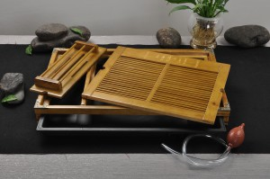 Gong Fu Tea tray with drain hole and hose for draining water
