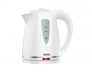 Cordless, plastic moulded, electric tea kettle