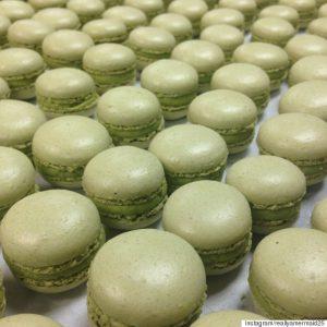Matcha Macaron cakes